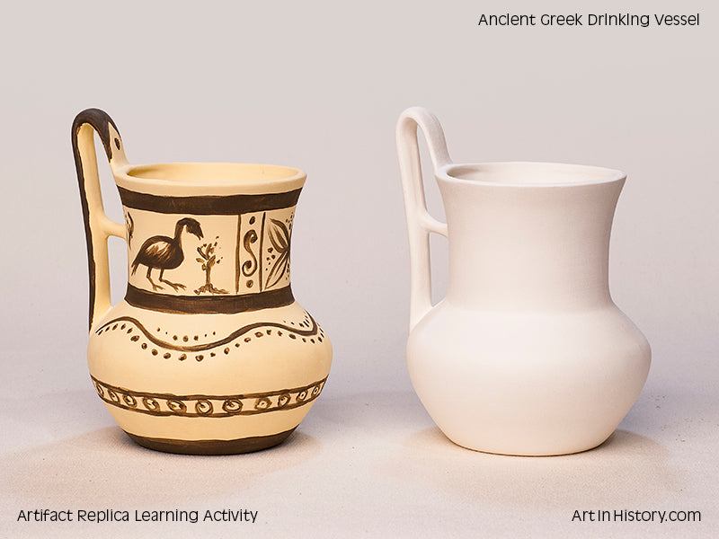 Paint Your Own Greek Drinking Vessel Replica