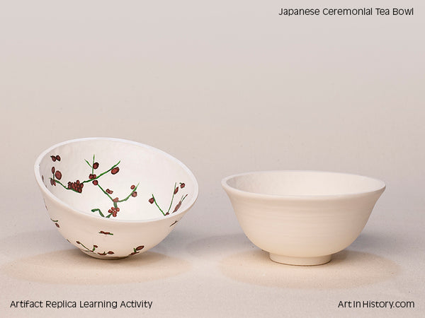 Paint Your Own Japanese Tea Bowl Replica