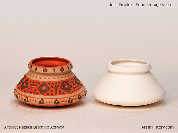 Paint Your Own Inca Storage Jar Replica