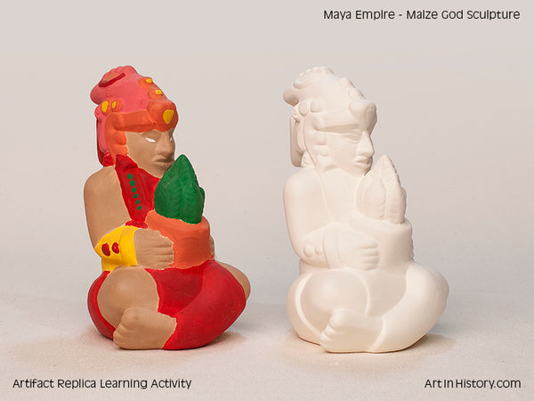 Paint Your Own Maya Maize Figurine