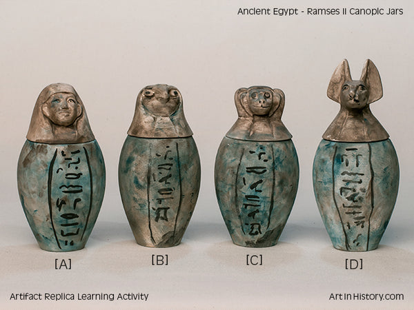 Ancient Egypt Falcon Head Canopic Jar