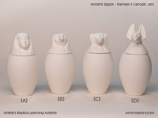 Paint Your Own Egyptian Canopic Jar Set