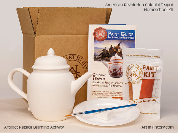 Paint Your Own American Revolution Teapot