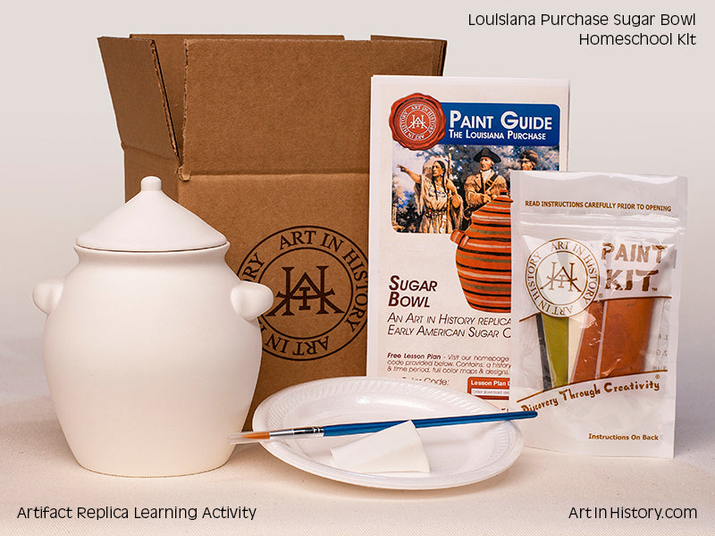 Paint Your Own Early American Sugar Bowl Replica