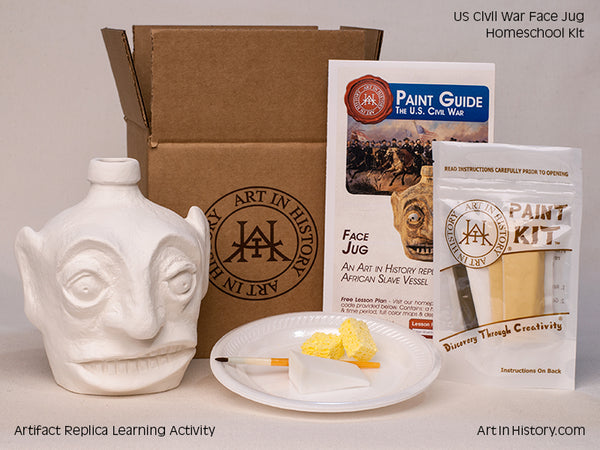 Paint Your Own Civil War Face Jug Replica