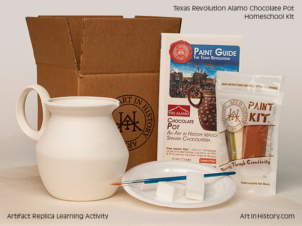 Paint Your Own Alamo Chocolate Pot Replica