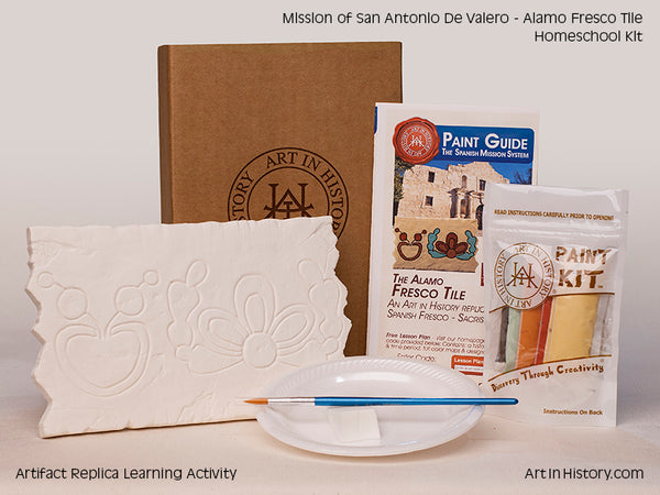 Paint Your Own Alamo Fresco Tile Replica