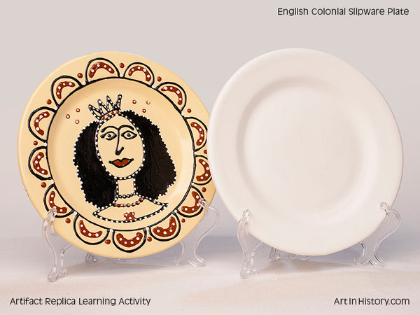 Paint Your Own English Colonial Slipware Plate Replica