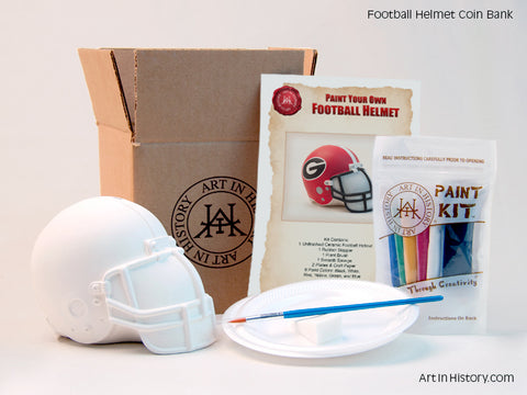 Football Helmet Coin Bank - 4 Kit Bundle