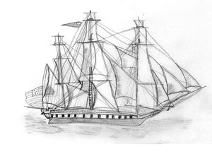 Scrimshaw - The USS Constitution
