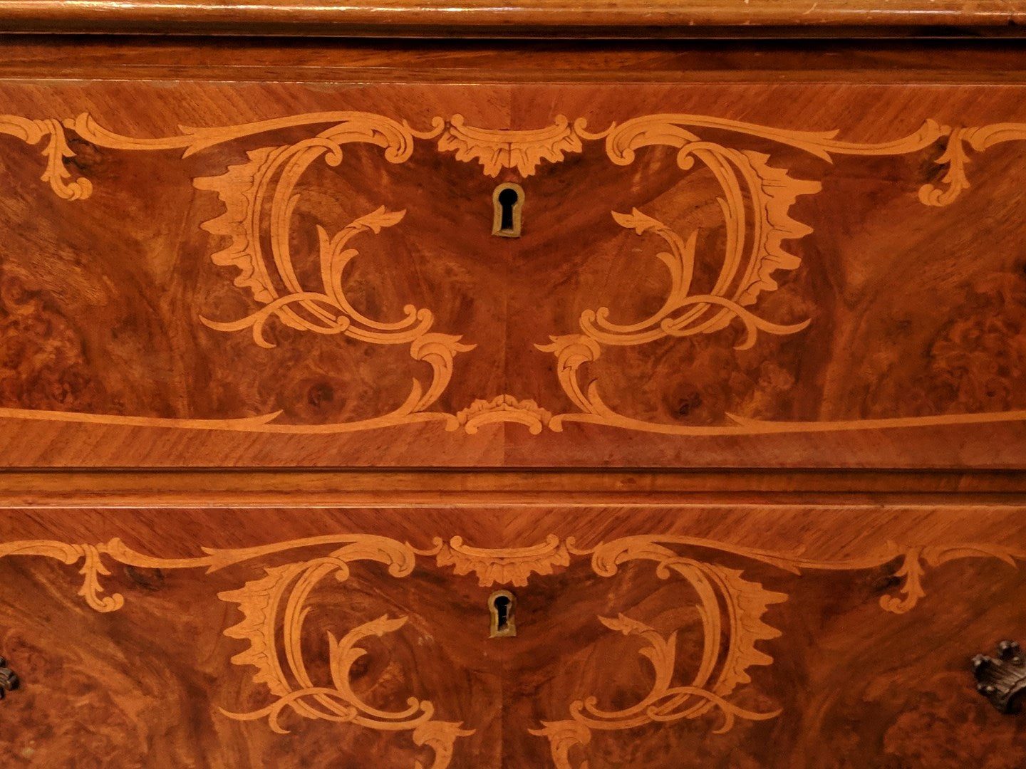 ITALIAN INLAID LOW CHEST