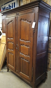 LOUIS XV OAK ARMOIRE WITH SHAPED PANELS