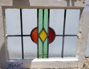ENGLISH LEADED AND STAINED GLASS WINDOW