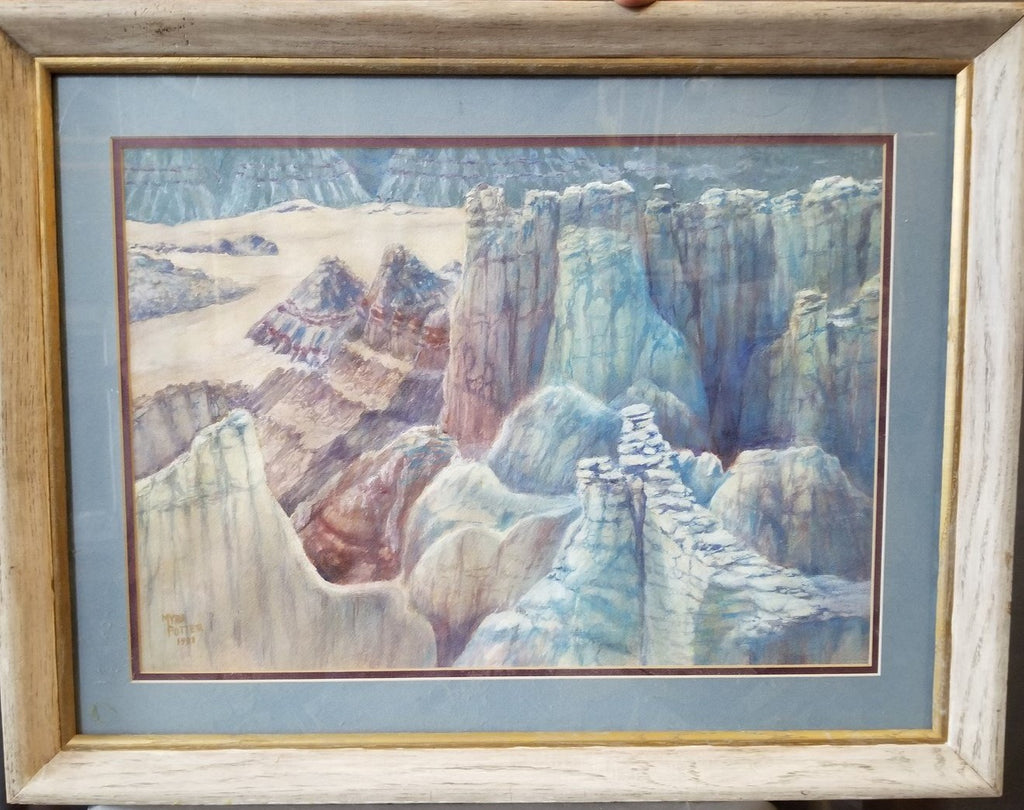 WATERCOLOR PAINTING OF COAL CANYON BY MARY POTTER