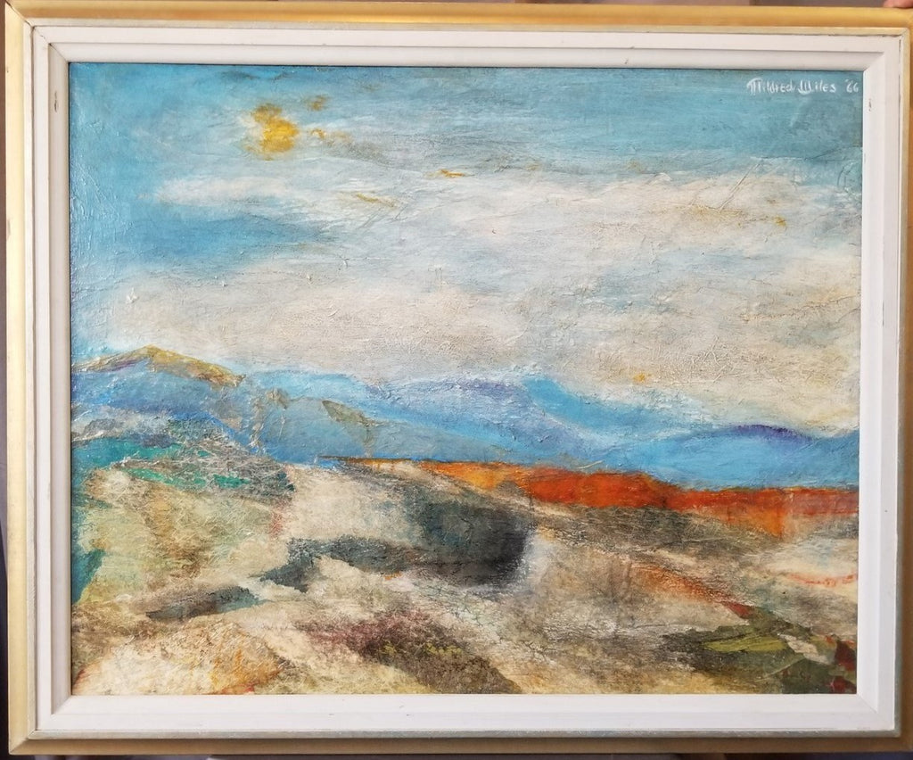 IMPRESSIONIST DESERT LANDSCAPE OIL PAINTING BY MILDRED WILES