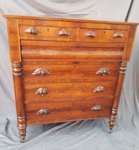 LATE NINETEENTH CENTURY MAHOGANY CHEST OF DRAWERS FROM AMERICA