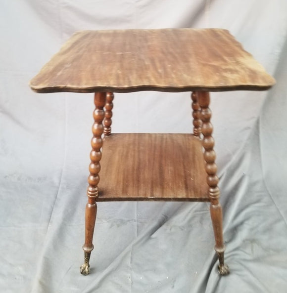 AMERICAN BALL AND CLAW FOOT OCCASIONAL TABLE-AS IS