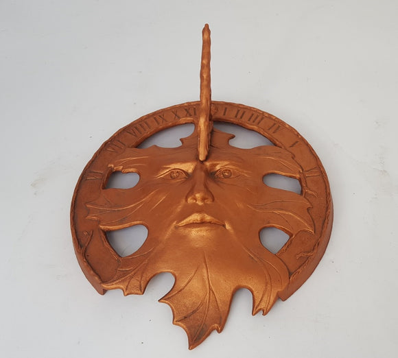 METAL COPPER FINISH SUN DIAL WITH FACE