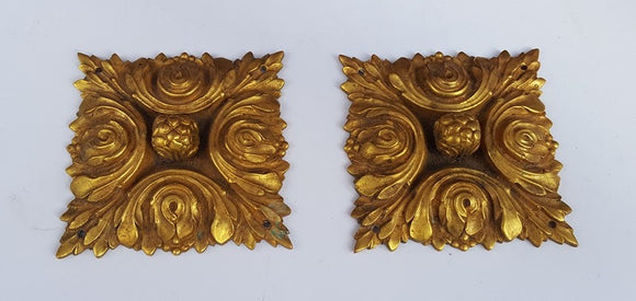 PAIR OF LARGE SIGNED FRENCH ORMOLU