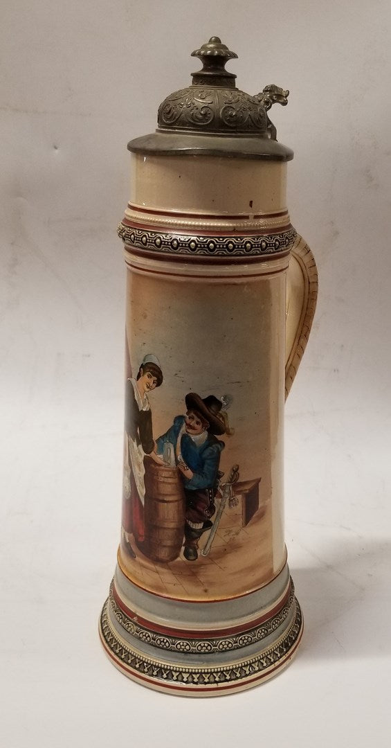 LARGE GERMAN STEIN WITH LID-collectible