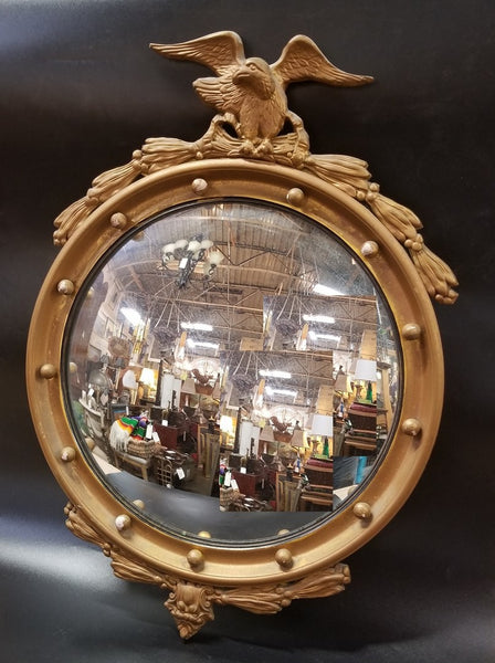 BULLS EYE CONVEX MIRROR WITH EAGLE CREST