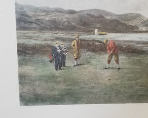 """THE PUTTING GREEN"" ENGRAVING BY DOUGLAS ADAMS"