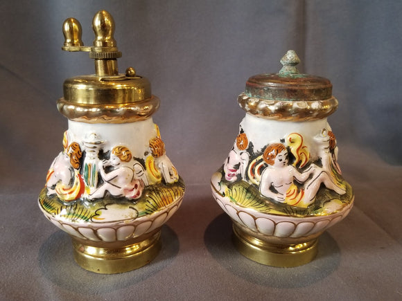 CAPODIMONTE SALT AND PEPPER SHAKERS