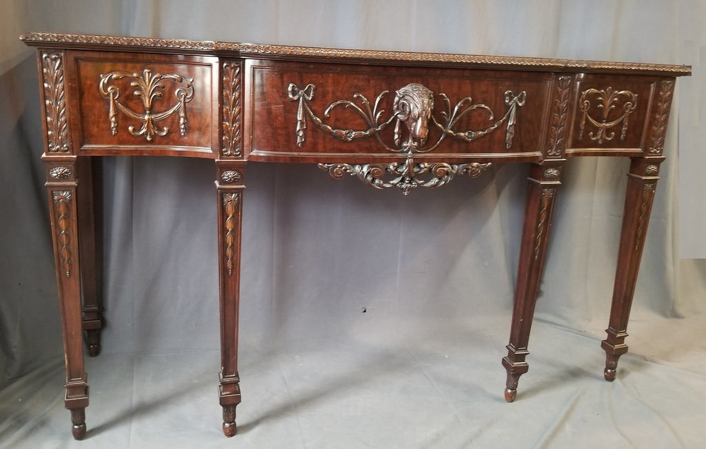 ADAM STYLE SERVER WITH RAMS HEAD DRAWER PULL