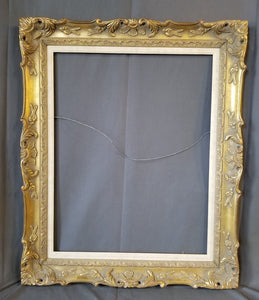 CARVED GOLD WOOD FRAME WITH LINER LINER