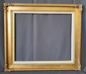 BRIGHT GOLD FRAME WITH LINER