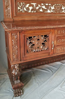 ITALIAN SIDEBOARD WITH STANDING LIONS