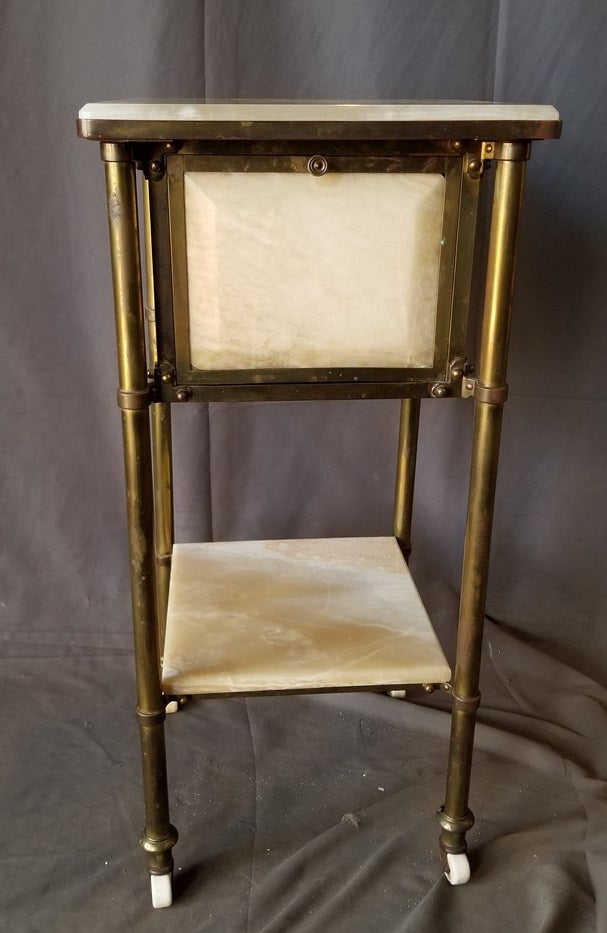 ONYX AND BRASS NIGHT STAND