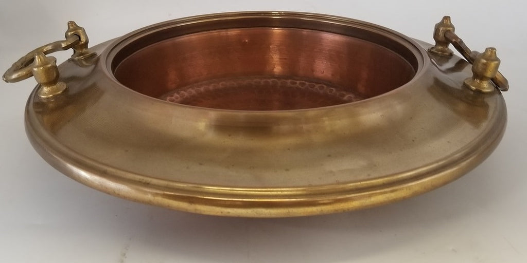 BRASS AND COPPER BRAZIER BOWL