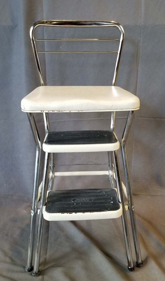 1950'S CHROME KITCHEN STEP STOOL