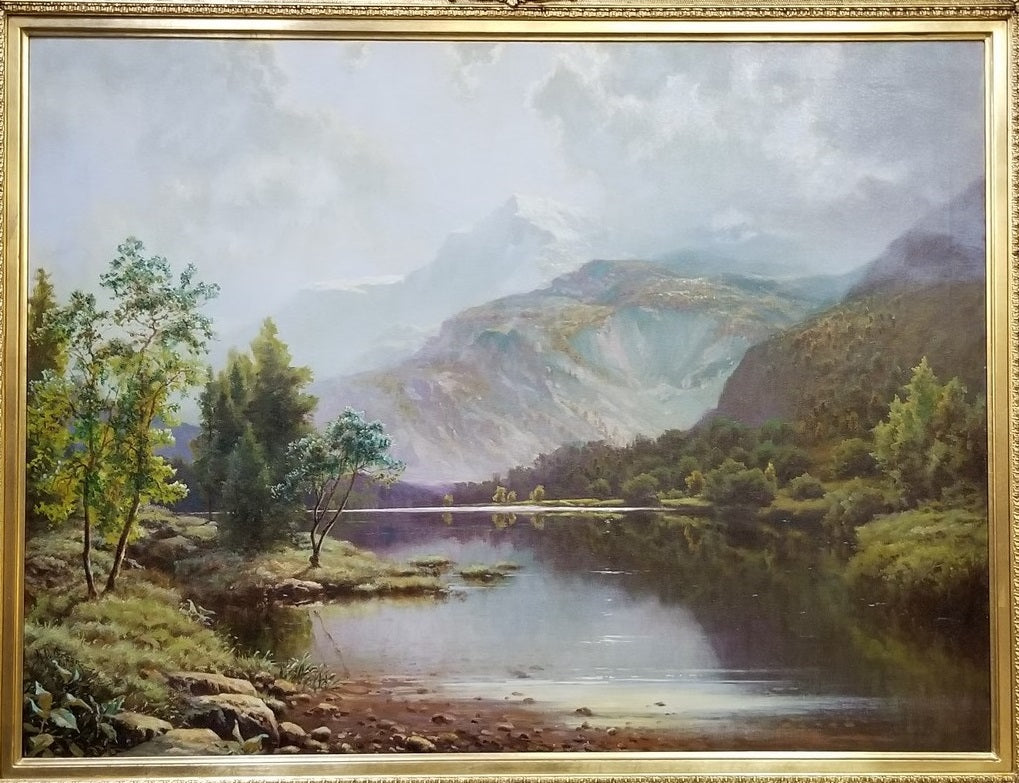 LARGE LANDSCAPE OIL PAINTING BY LISTED ARTIST A.D.GREER