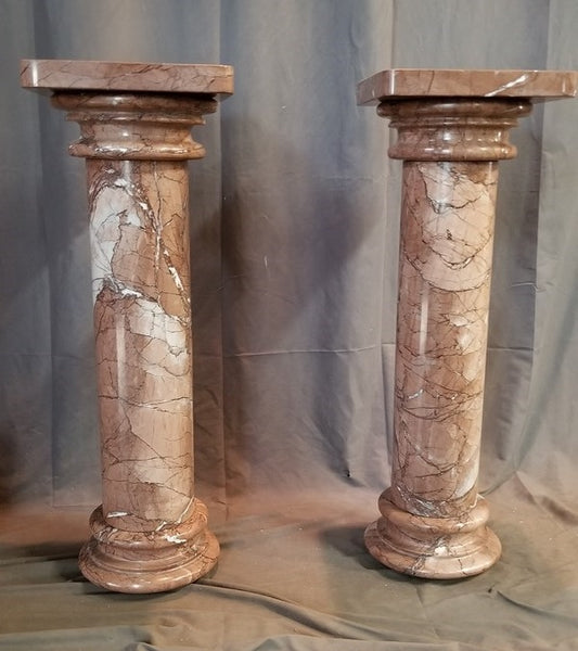 PAIR OF MARBLE STANDS