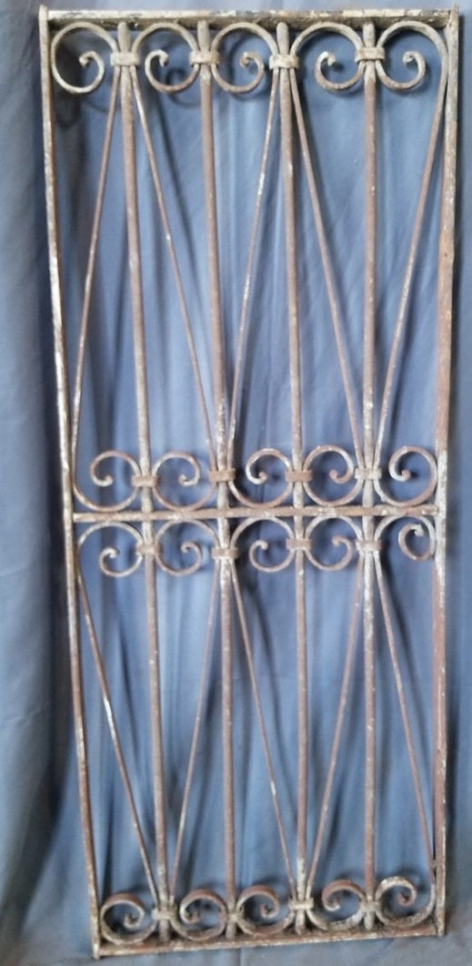 "PAIR SMALL IRON PANELS EACH 19"" X 48""  PAIR (38"" X 48"" TOGETHER)"