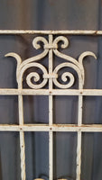 "QUALITY IRON FENCE SECTION PAINTED WHITE 44"" x 62"""