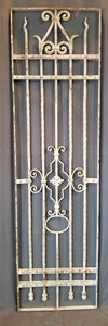 "QUALITY IRON FENCE SECTION PAINTED WHITE 23.5"" X 84.5"""