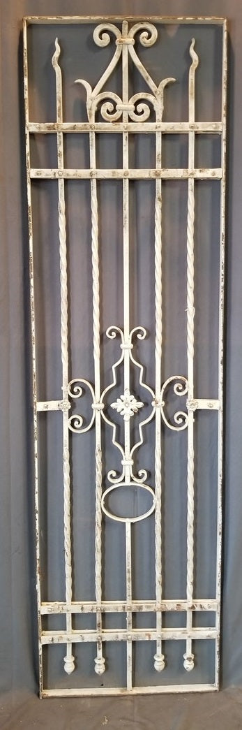 QUALITY IRON FENCE SECTION PAINTED WHITE 23.5