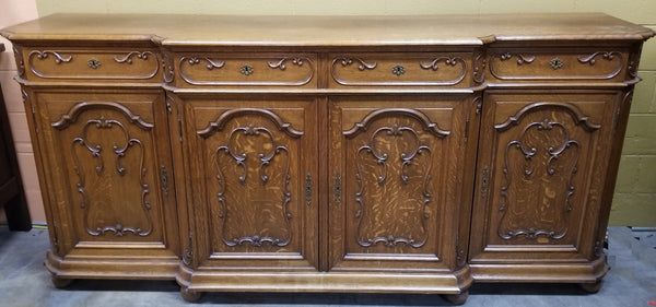 LARGE FRENCH OAK LIEIGE SIDEBOARD