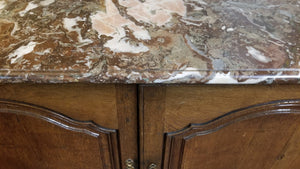EARLY LOUIS XV SIDEBOARD WITH MARBLE TOP