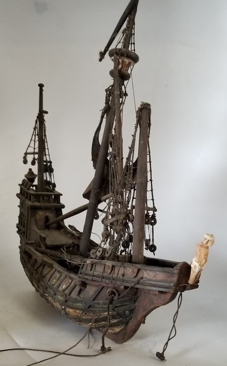 WOODEN GHOST SHIP MODEL