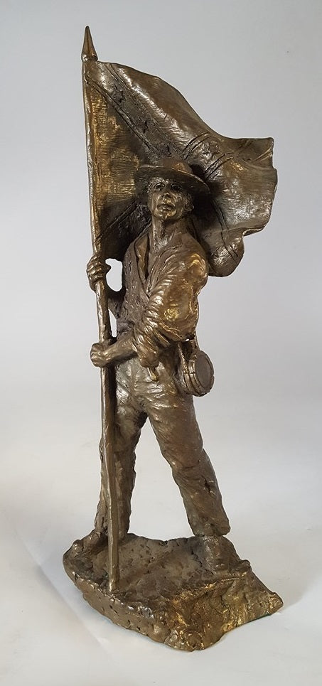 BRONZE CONFEDERATE SOLDIER STATUE SIGNED AND NUMBERED
