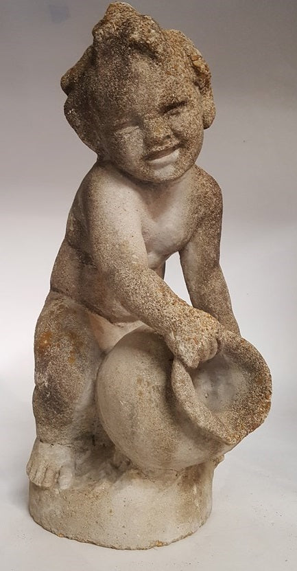 ANTIQUE CONCRETE STATUE OF A  BOY- for your Fountain