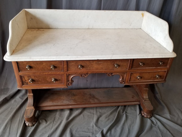 LARGE MARBLE TOP EUROPEAN WASHSTAND