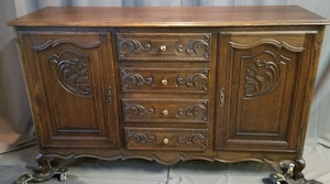 DARK OAK COUNTRY FRENCH SIDEBOARD