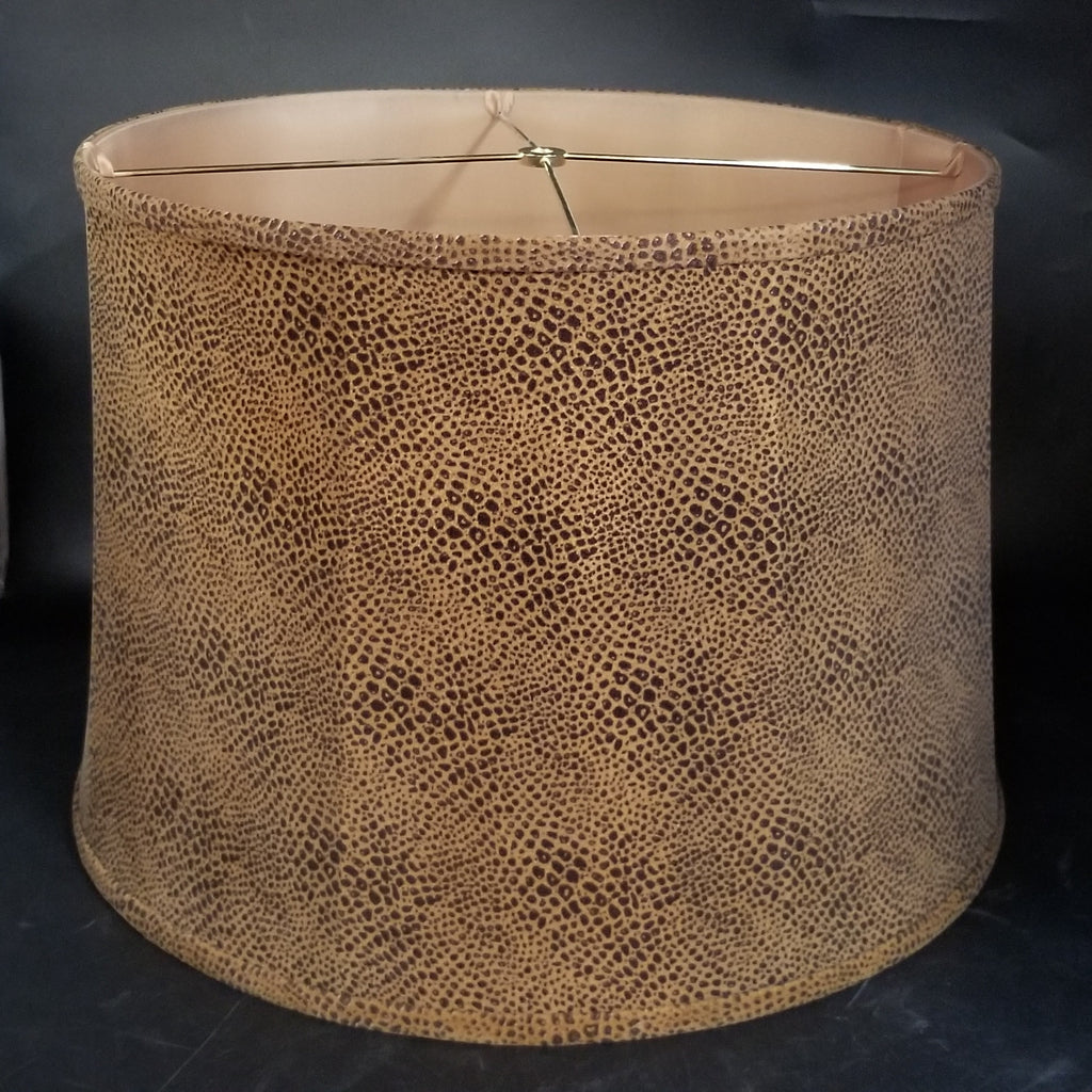 LARGE FAUX SNAKE SKIN LAMP SHADE