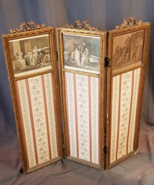 FRENCH LOUIS XVI SCREEN WITH PAINTINGS