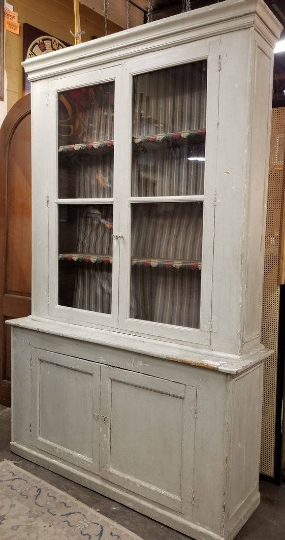 9' TALL PAINTED PINE CUPBOARD